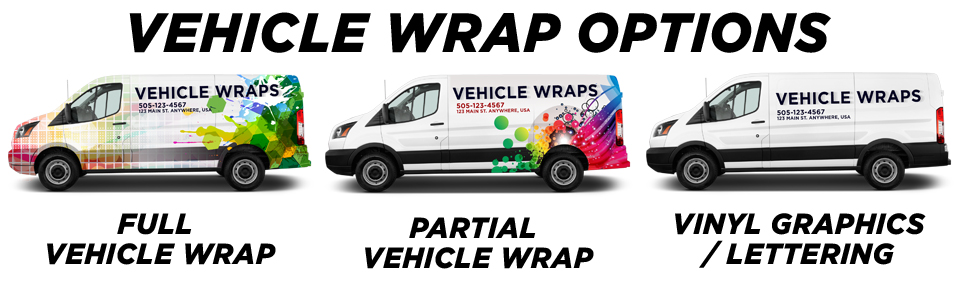 Harveysburg Vehicle Wraps vehicle wrap options