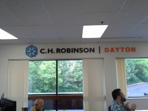 attractive logo lobby sign dimensional letters