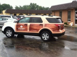 Custom Sperry vehicle partial wrap
