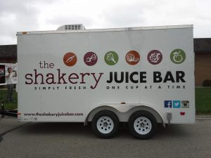 Custom trailer graphics and lettering