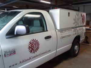 Farmersville Sign Company custom work truck wrap graphics vehicle 300x225