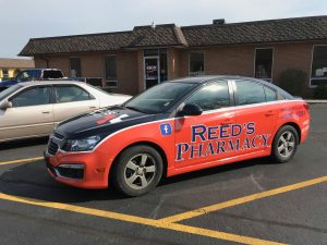 custom pharmacy vehicle wrap
